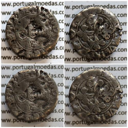 Meio Vintém Prata de D. Manuel I 1495-1521, (A. Gomes 18.05) +I:EMANVEL:R:P:ET.A.D / +EMANVEL:I:R:P:ET:A:D:G