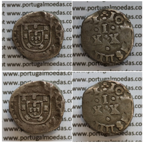 Vintém Prata de D. João IV 1640-1656, 20 Réis prata, (A. Gomes 12.08), Legenda: ALGARABIORVM / ✤IOANNS IIII D G R P
