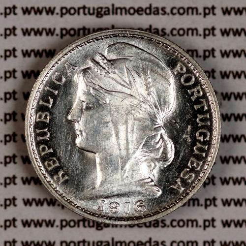 20 centavos 1916 prata, ($20 centavos prata 1916), Republica Portuguesa, World Coins Portugal  KM 562