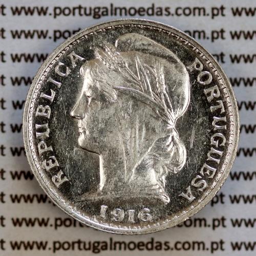 20 centavos 1916 prata, ($20 centavos prata 1916), Republica Portuguesa, (Soberba), World Coins Portugal  KM 562