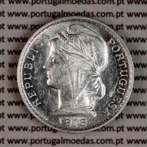 20 centavos 1916 prata, ($20 centavos prata 1916), Republica Portuguesa, (Bela/Soberba), World Coins Portugal  KM 562