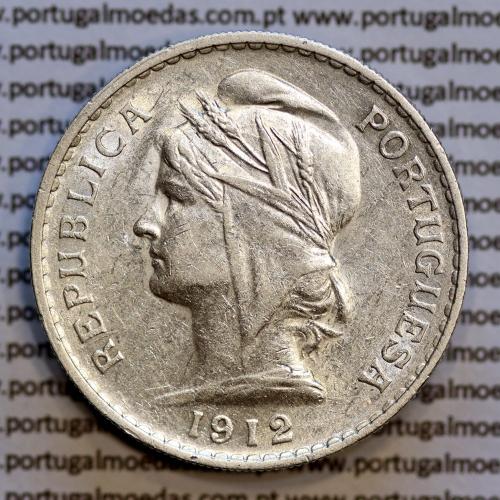 50 centavos 1912 prata, ($50 centavos prata 1912), Republica Portuguesa, (MBC+/Bela-), World Coins Portugal  KM 561