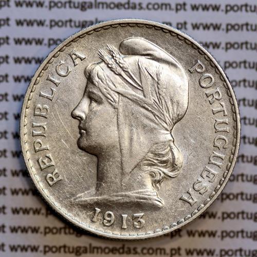 50 centavos 1913 prata, ($50 centavos prata 1913), Republica Portuguesa, (Bela-), World Coins Portugal  KM 561