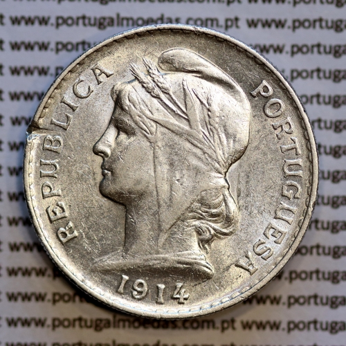 50 centavos 1914 prata, ($50 centavos prata 1914), Republica Portuguesa, (Bela-), World Coins Portugal  KM 561