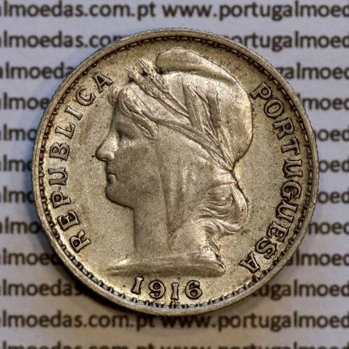 20 centavos 1916 prata, ($20 centavos prata 1916), Republica Portuguesa, (MBC+), World Coins Portugal  KM 562