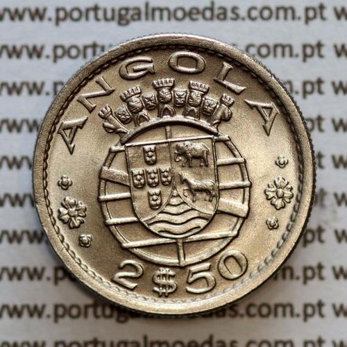 Angola 2$50 1967 cuproníquel, (2 escudos e 50 centavos 1967), (Soberba) 2 1/2 Escudos 1967 Nickel  World Coins Angola KM 77
