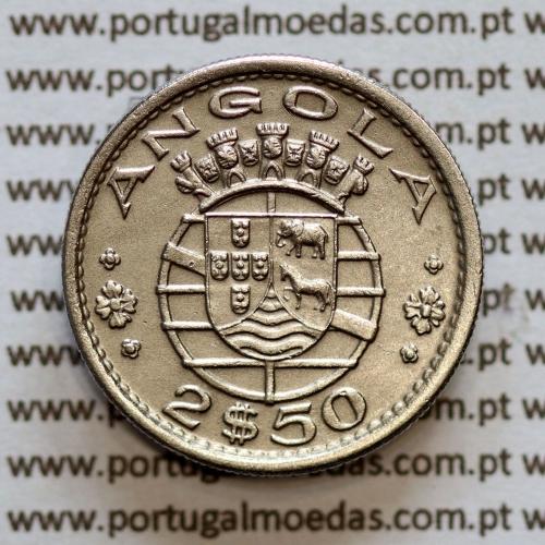 Angola 2$50 1967 cuproníquel, (2 escudos e 50 centavos 1967), (Bela) 2 1/2 Escudos 1967 Nickel  World Coins Angola KM 77