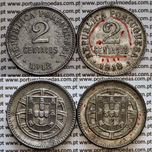 "2 centavos 1918 Ferro, ""$02 centavos 19218 Ferro"" (MBC+), World Coins Portugal  KM567"