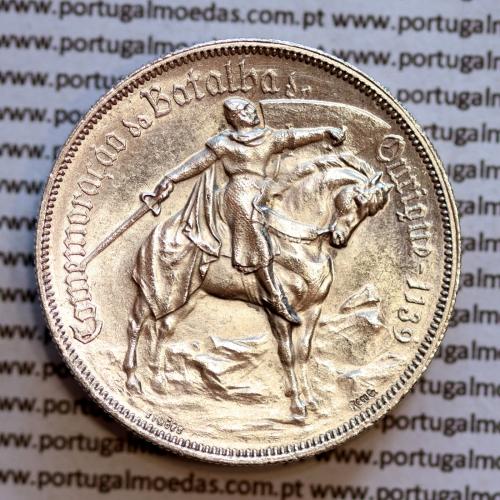 """10 Escudos prata 1928 """"Batalha de Ourique, 10$00 prata 1928,  (Bela/Soberba), World Coins Portugal KM 57"""