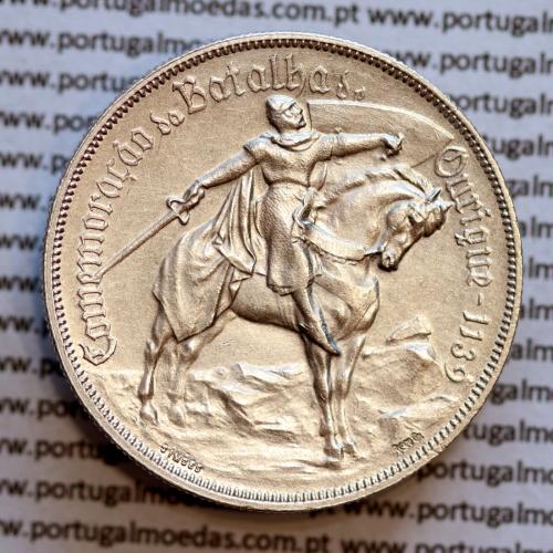 """MOEDA 10$00 ESCUDOS """"DEZ ESCUDOS"""" PRATA 1928 BATALHA DE OURIQUE (BELA) -  REPÚBLICA PORTUGUESA"""