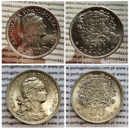 50 Centavos 1930 Alpaca, $50 Centavos 1930, ( Soberba), World Coins Portugal KM 577