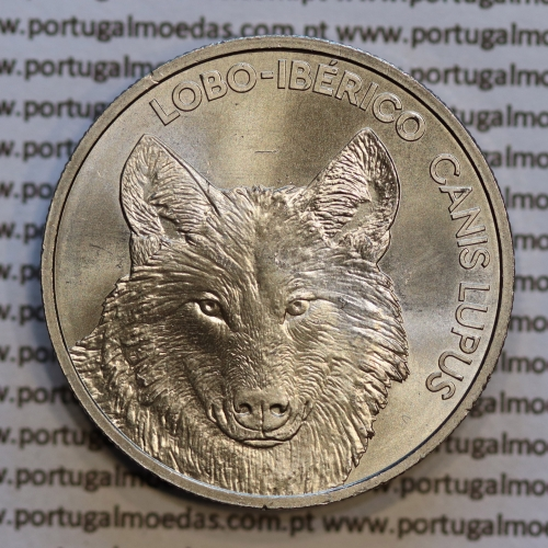 """5€ """"Euros""""  2019, Lobo-Ibérico, Cuproníquel (5 Euro 2019, Iberian wolf, Copper-nickel)"""