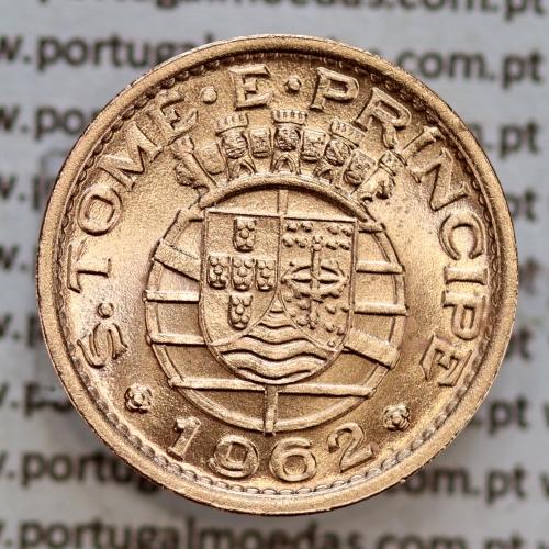S. Tomé e Príncipe 20 Centavos 1962 Bronze, (Soberba), World Coins - Saint Thomas & Prince Island KM 16.1