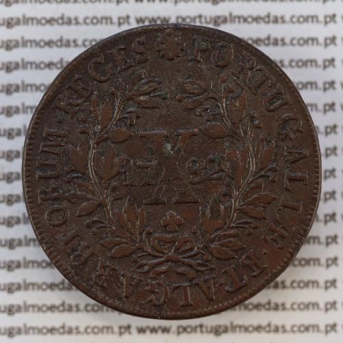 X réis cobre 1782 D. Maria I e D. Pedro III, 10 réis cobre 1782, World Coins Portugal KM280