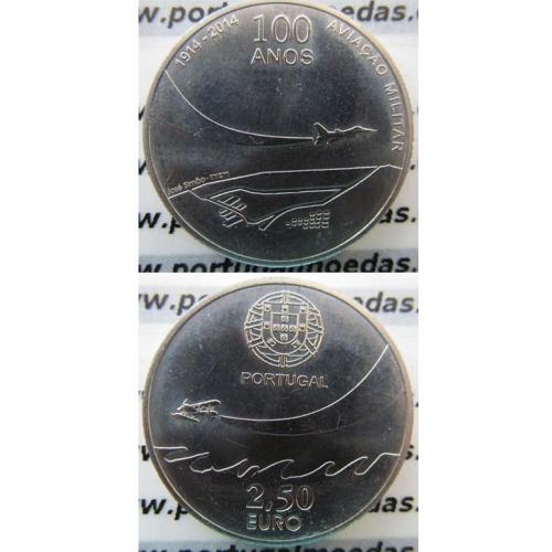 2,50€ Euros 2014, 100 Anos Da Aeronáutica Militar, cuproniquel  (2,50 Euro 2014, Military Aviation)