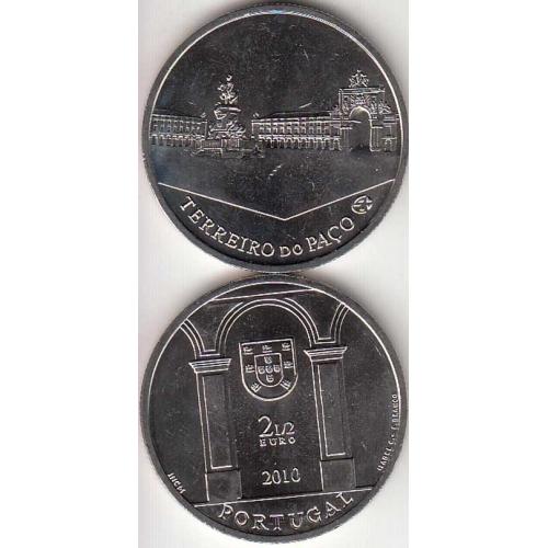 2,50€ Euros 2010, Terreiro do Paço, Cupro-Níquel, (Portugal, 2,50 Euro 2010, Palace Square, Lisbon)