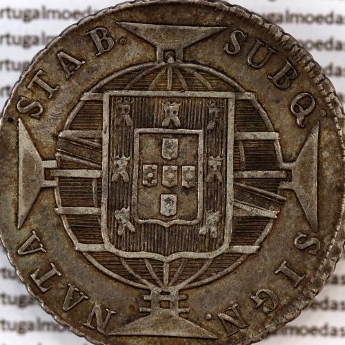 "640 Réis 1821 Prata D. João VI (Brasil), 2 Patacas prata 1821 Brasil, ""R"" Rio de Janeiro, World Coins Brasil KM 325.2"