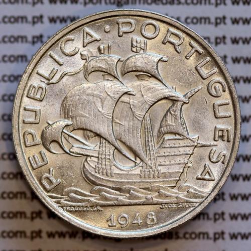 10$00 prata 1948 Republica Portuguesa, moeda de 10 Escudos prata 1948, (Bela/Soberba),  World Coins Portugal KM 582