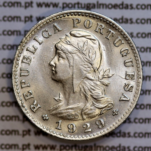 São Tomé e Príncipe 20 Centavos 1929 Alpaca, (Soberba), World Coins - Saint Thomas & Prince Island KM 3