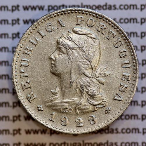 São Tomé e Príncipe 20 Centavos 1929 Alpaca, (MBC+/Bela-), World Coins - Saint Thomas & Prince Island KM 3