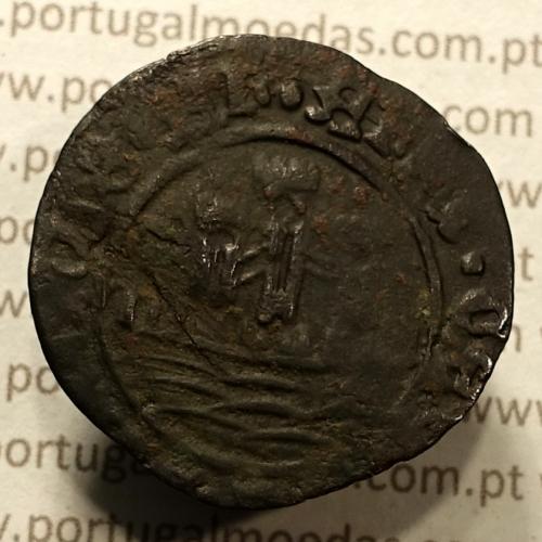 Ceitil Cobre de D. Afonso V (1438 -1481), Ceitil (1/6 Real Branco) Tipologia do catálogo F. Magro 1º Grupo - A5.1.2.10