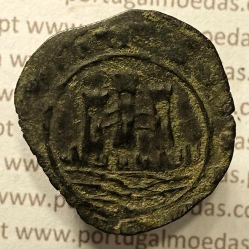 Ceitil Cobre de D. Afonso V (1438 -1481), Ceitil (1/6 Real Branco) Tipologia do catálogo F. Magro 1º Grupo - A5.1.4.3