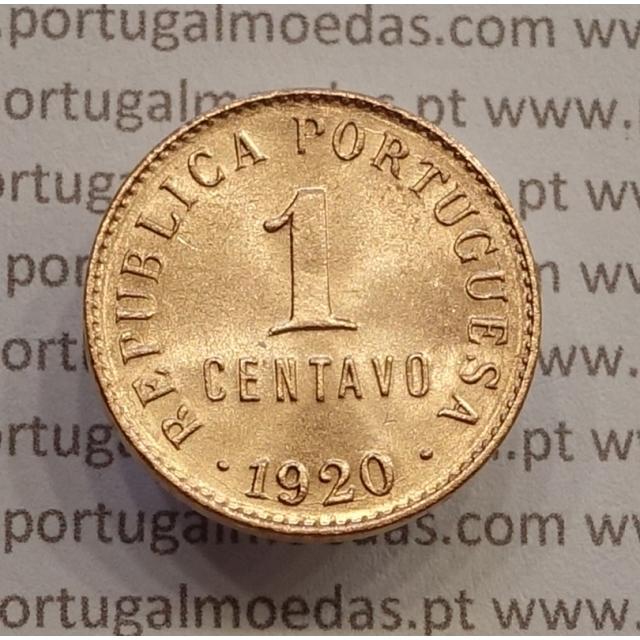 """MOEDA DE UM CENTAVO (1 CENTAVO) BRONZE 1920 """"P"""" ABERTO SOBERBA"""