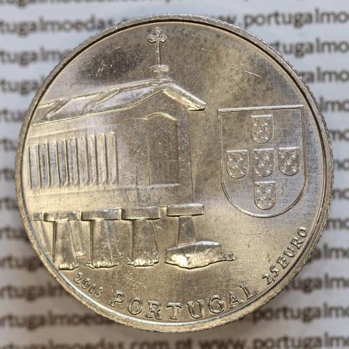2,50€ Euros 2018, Espigueiros do Noroeste, Cuproníquel (Portugal, 2,50€ Euro 2018 Granary houses from northwest of Portugal)