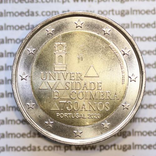 2€ Euros 2020, 730 Anos Universidade de Coimbra, Bimetálica (Portugal, 2 Euro 2020, 730 years of the University of Coimbra)