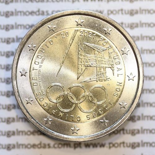 2€ Euros 2021, Jogos Olímpicos de Tóquio, Bimetálica (Portugal, 2 Euro 2020, Tokyo Olympic Games)
