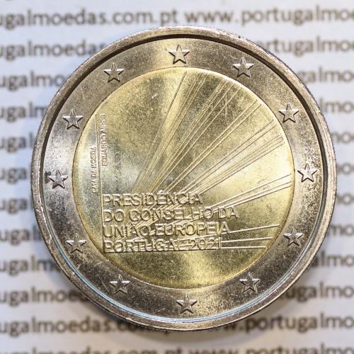2€ Euros 2021, Presidência do Conselho da União Europeia, Bimetálica (Portugal, 2 Euro 2021, Presidency EU)
