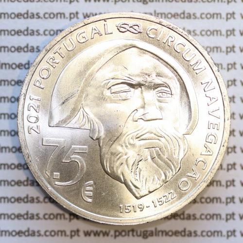 7,5€ Euros 2021, Fernão Magalhães, prata (Portugal, 7,5 Euro 2021)