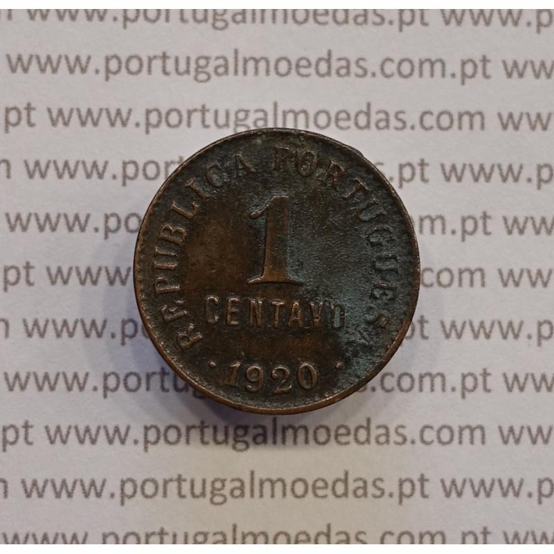 "MOEDA DE UM CENTAVO (1 CENTAVO) BRONZE 1920 ""P"" ABERTO BC"