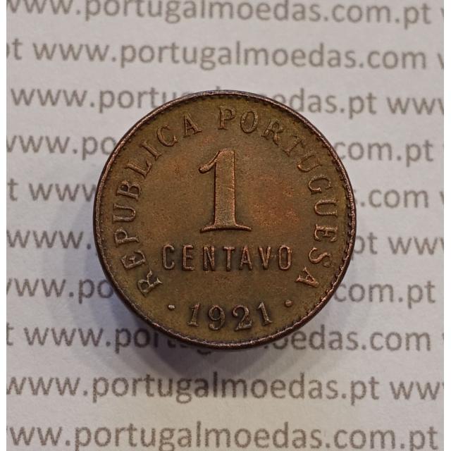 MOEDA DE UM CENTAVO (1 CENTAVO) BRONZE 1921 MBC+/BELA-