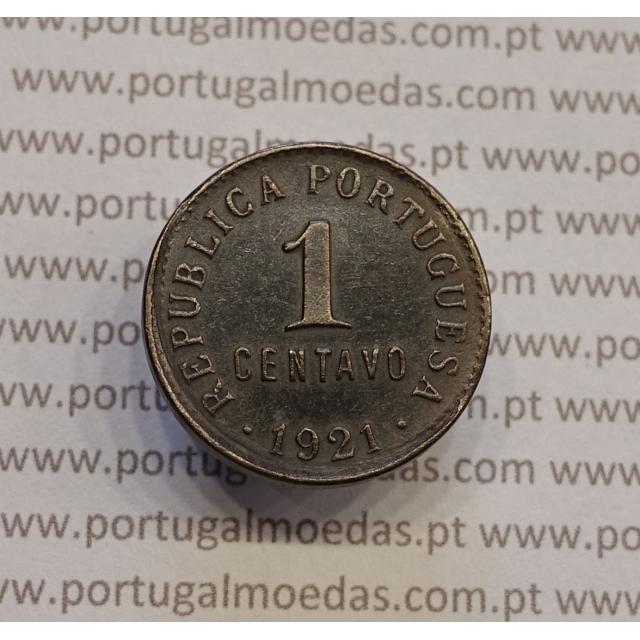 MOEDA DE UM CENTAVO (1 CENTAVO) BRONZE 1921 MBC+