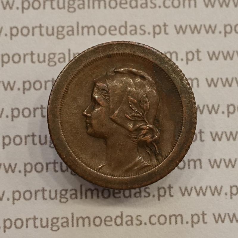 MOEDA DE CINCO CENTAVOS (5 CENTAVOS) BRONZE 1924 MBC+