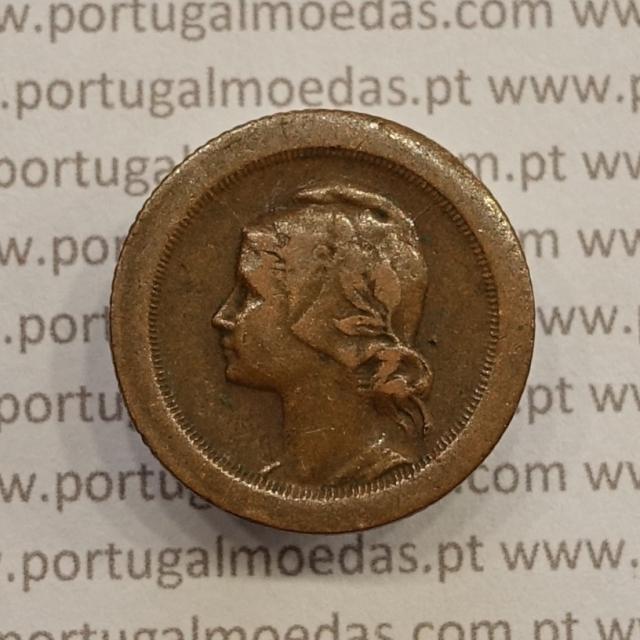 MOEDA DE CINCO CENTAVOS (5 CENTAVOS) BRONZE 1924 MBC
