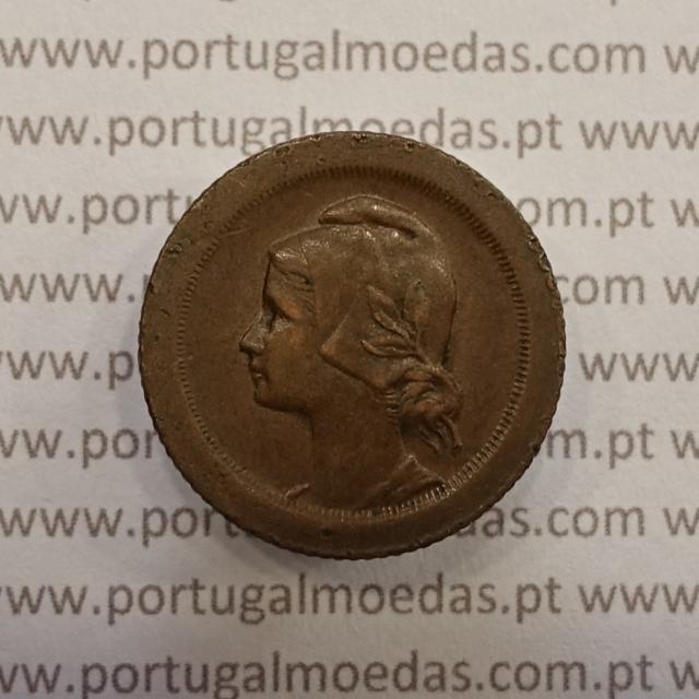 MOEDA DE CINCO CENTAVOS (5 CENTAVOS) BRONZE 1927 MBC