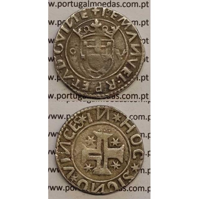 MOEDA TOSTÃO PRATA 1495-1521 (MBC-) D. MANUEL I