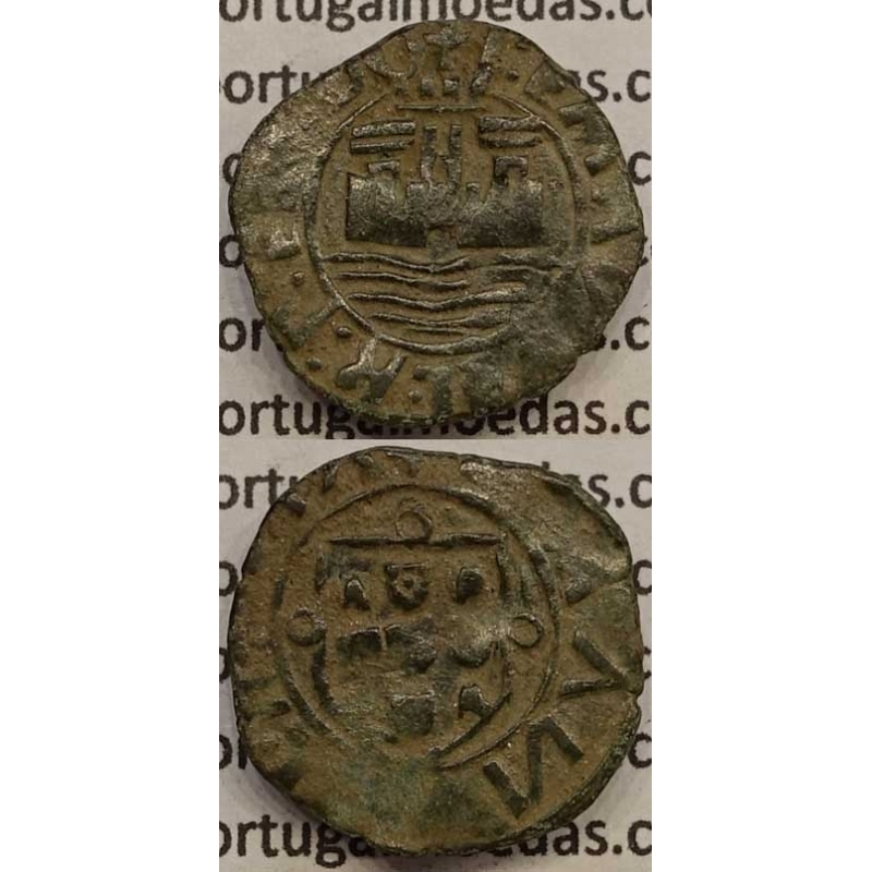 MOEDA CEITIL COBRE 1495-1521 (BC+) - UM SÓ BESANTE NOS ESCUDOS - D.MANUEL I