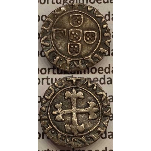 MOEDA MEIO VINTÉM PRATA 1495-1521 (MBC) - D.MANUEL I