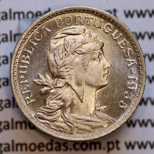 50 Centavos 1935 Alpaca, Republica Portuguesa, (SOBERBA) Rara neste estado conservação,  World Coins Portugal  KM 577