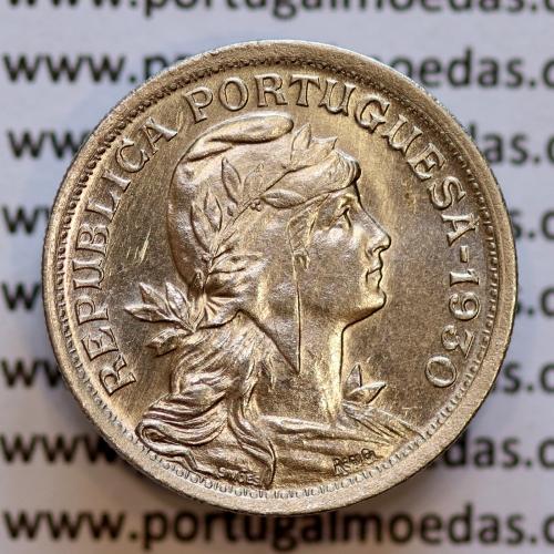 50 Centavos 1930 Alpaca, Republica Portuguesa, (Bela/SOBERBA) Rara neste estado conservação,  World Coins Portugal  KM 577