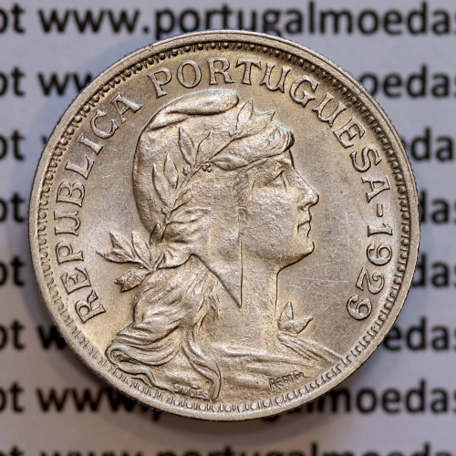 50 Centavos 1929 em Alpaca, $50 centavos Republica Portuguesa, (Bela) World Coins Portugal  KM 577