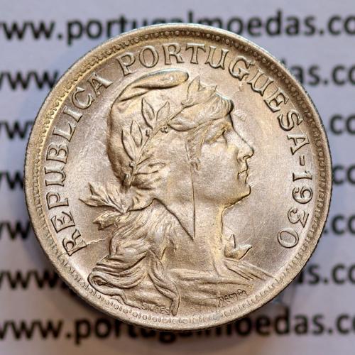 50 Centavos 1930 Alpaca, $50 centavos 1930 da Republica Portuguesa, (Bela/SOBERBA), World Coins Portugal  KM 577