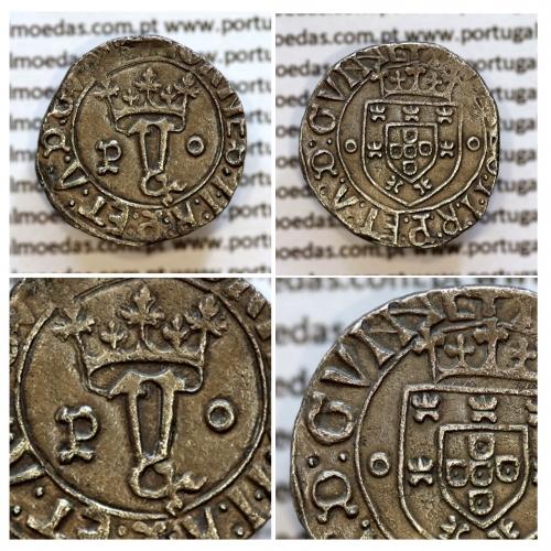 "Vintém Prata de D. João II 1481-1495, Porto, ""GVNNC""  +IOANES:I.I:R:P:ET:A:D:GVINE /+IOANES:I.I:R:P:ET:A:D:GVNNC"