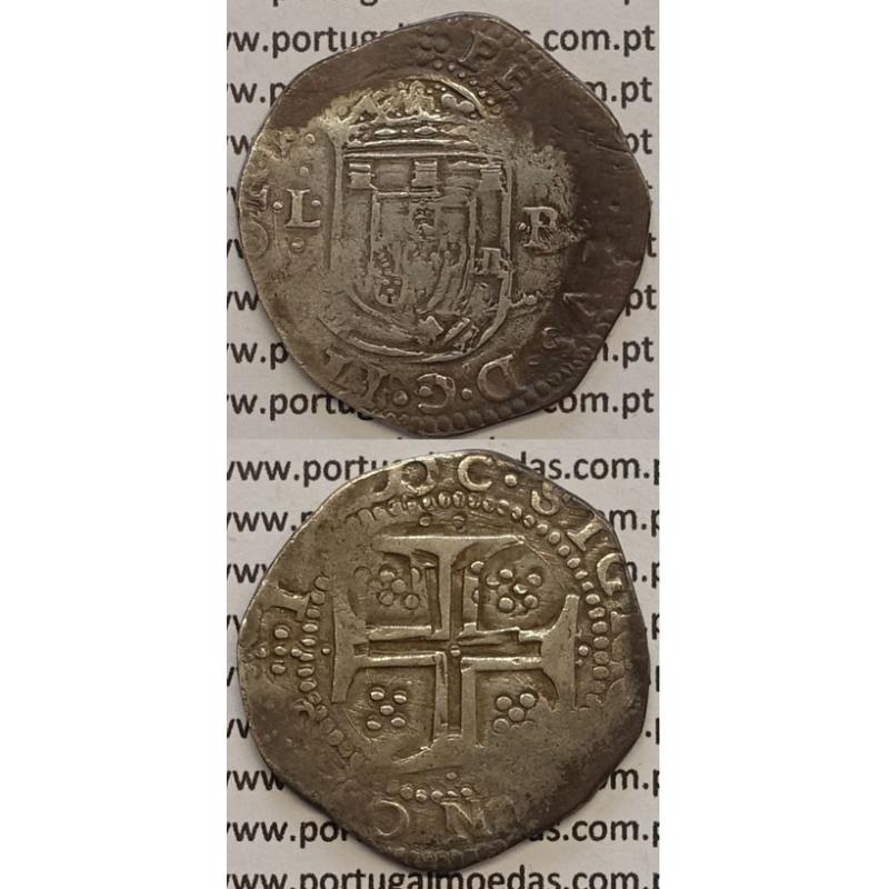 MOEDA TOSTÃO PRATA 1598-1621- D. FILIPE II - .....REX PORTVGALI