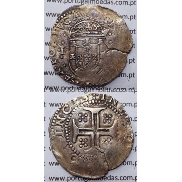 """MOEDA TOSTÃO - PRATA 1598-1621 / RARA - COD.20.01 """"ALBERTO GOMES"""" D.FILIPE II"""