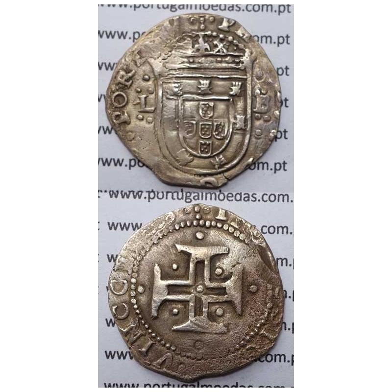 TOSTÃO - PRATA 1621-1640 / COROA PEROLADA / ...VINCCES