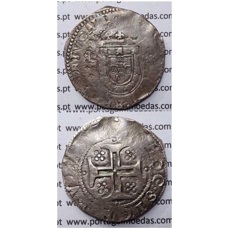 TOSTÃO - PRATA 1621-1640 / ...PORTVGALIA - COROA PEROLADA